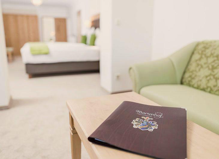 Zimmerausstattung - Inklusivleistungen im Vitalhotel Marienhof