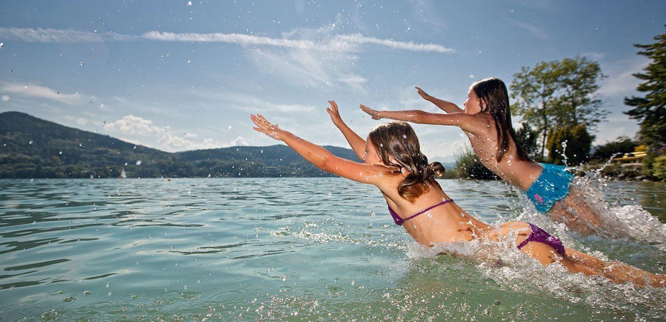 Schwimmen - Sommerurlaub am Wörthersee, Kärnten