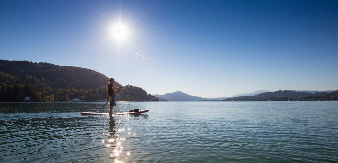Stand up-Paddeling - Sommerurlaub am Wörthersee, Kärnten